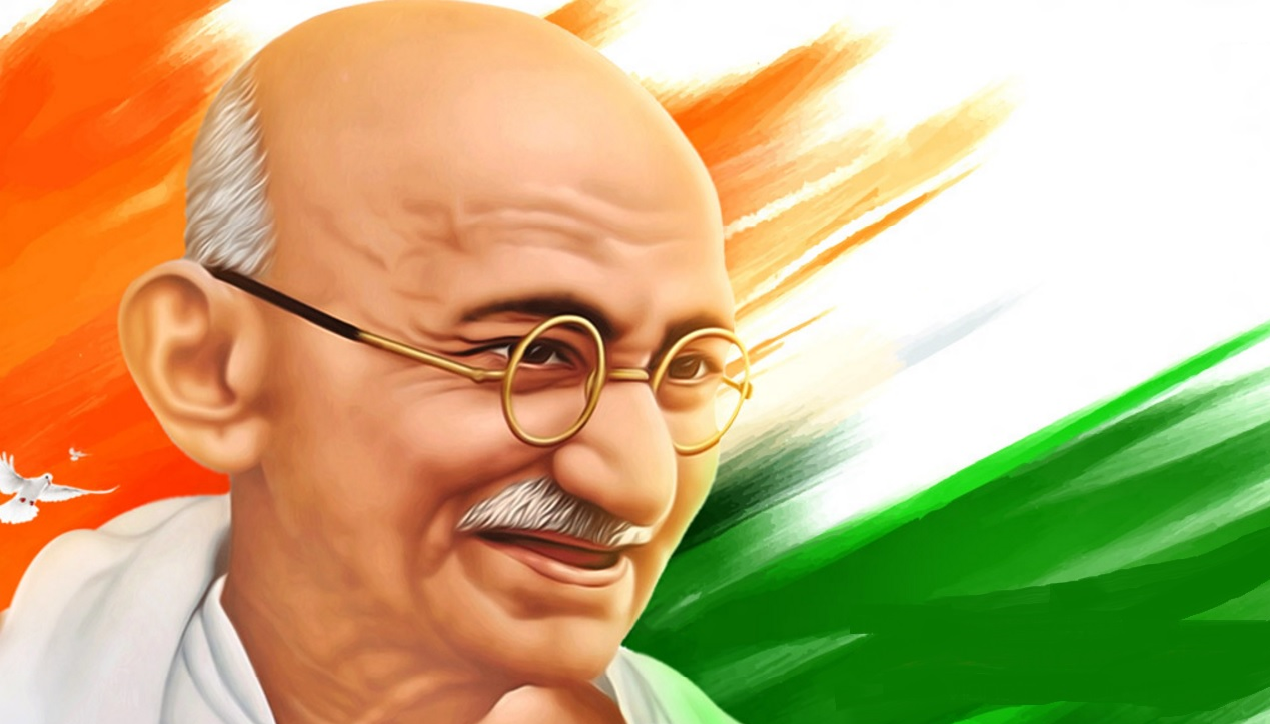 gandhiji standing coloring pages - photo#35