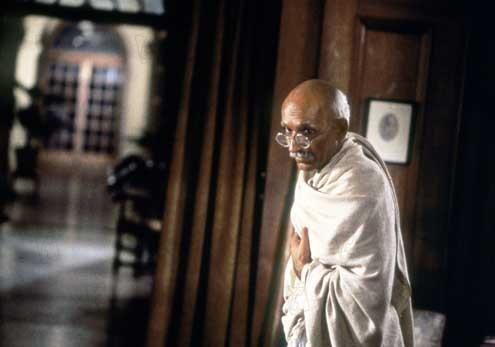 Gandhi 1982 real : Richard Attenborough Ben Kingsley COLLECTION CHRISTOPHEL