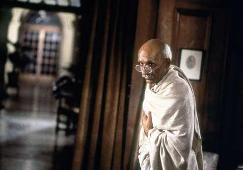 Gandhi 1982 real : Richard Attenborough Ben Kingsley COLLECTION CHRISTOPHEL