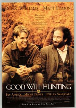 Gênio Indomável, Matt Damon, Will Hunting, Robin Williams, Sean Maguire, Ben Affleck, Chuckie, 1998, EUA, Dublado, 2